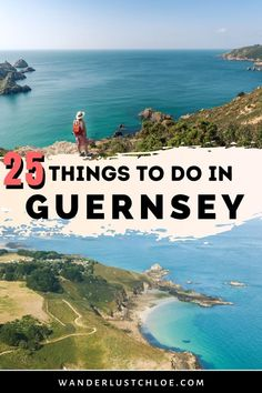 From delicious seafood and island-hopping adventures, to history and water sports, these are the best things to do in Guernsey. Find out about where to go for beautiful coastal walks and which restauarnts serve the best seafood in Guernsey. Also, if you're looking for a great day trip, find out about a beautiful neighbouring island that can't be missed. #LiveUnpaused #Guernsey #ChannelIslands #IslandTravel Beach Cafe, Shell Beach, Guernsey, Rock Pools, Turquoise Water, Island Life, Great View, Day Trip, Where To Go