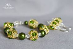Set of bracelet and earrings by VEHA on Etsy