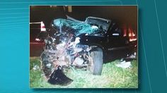 Motorista morre após carro bater em contêiner em rodovia no Paraná +http://brml.co/1MUSZLH