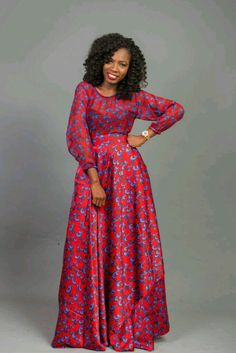 Ankara maxi gown African maxi dress African wax fabric African bespoke dress for women African party dress African wedding dress African Party Dresses, African Wedding Dress, Latest African Fashion Dresses, African Dresses For Women, African Print Dresses, African Print Fashion, African Attire, African Hair, African American Fashion