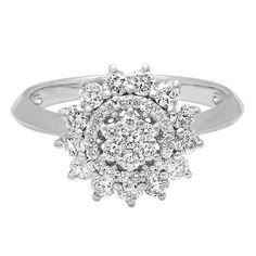 3/4 ct. tw. Diamond Ring in 14K White Gold - 2262895 - Helzberg Diamonds