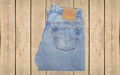 Vintage Levis 501 Jeans USA Made 1990s Straight Leg Light Blue Denim Button Fly Red Tab Measure as W32 L33 by BlackcatsvintageUK on Etsy