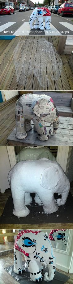 Reminder to paper mâché elephants with girls in summer with old travel books for garden. Got all stuff, just need to get on with it. Maybe one clear waterproof and other moss graffiti.