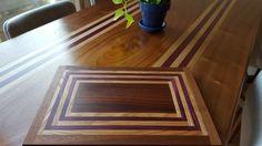 Custom Hardwood Mid-Century Modern Dining Table