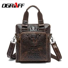 4887e38639ec OGRAFF Men messenger bag genuine leather bag men handbags leather briefcases  2017 designer vintage business shoulder
