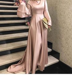 Image about fashion in Dresses 👗 by Ibtissam C c hijabista - Hijab Hijab Prom Dress, Hijab Evening Dress, Hijab Style Dress, Bridesmaid Dress, Event Dresses, Modest Dresses, Simple Dresses, Modest Clothing, Abaya Fashion