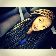 two toned box braids My Hairstyle, Box Braids Hairstyles, Protective Hairstyles, Protective Styles, Dreadlock Hairstyles, Wedding Hairstyles, Marley Twists, Black Girls Hairstyles, African Hairstyles