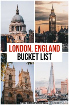 London Bucket List: 50 Amazing Things to Do in London, England | Borders & Bucket Lists London bucket list, things to do in London, things to do in England, things to do in the UK, things to do in London England, things to do in London Harry Potter, things to do in London with kids, London bucket list things to do, London bucket list challenge #london #england #uk #bucketlist