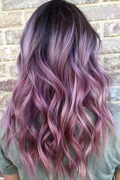 Love this violet blue hair color violet ombre, pastel ombre hair, pastel hair colors Violet Hair Colors, Hair Color Blue, Cool Hair Color, Hair Colours, Violet Ombre, Pink Purple Hair, Purple Balayage, Dyed Hair Pink, Hair Colour Ideas