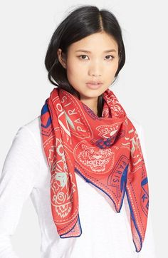 KENZO 'Badges' Wool Scarf available at #Nordstrom