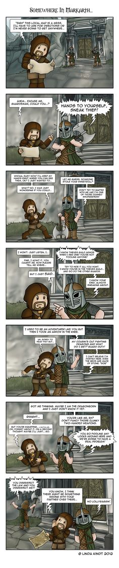 Awesome XD good commentary on how guards are USELESS in skyrim. At least in Oblivion they'd give you directions...