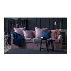IKEA - HOLMSUND, Convertible 3 places, Ransta rose clair, , Se transforme en lit en un tour de main.L'espace de rangement sous l'assise peut accueillir du linge de lit par exemple.La housse est facile à entretenir car elle est amovible et lavable en machine.