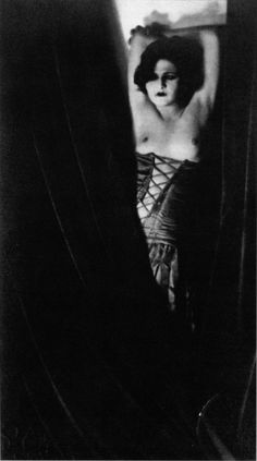 """Madame D'Ora's photo of Anita Berber, 1922: """"[Berber] could often be seen in Berlin's hotel lobbies, nightclubs and casinos, naked apart from an elegant sable wrap, with a pet monkey and a silver brooch packed with cocaine."""""""