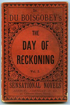 Front cover of The Day of Reckoning by Fortuné Boisgobey (1885)