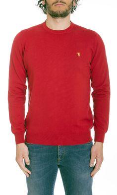 Trussardi Jeans | Maglia Trussardi Jeans Uomo Girocollo Col. Rosso - Shop Online su Dursoboutique.com 520000