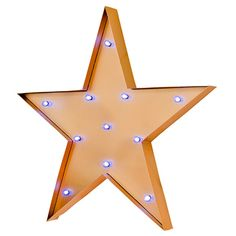 Stargazer Vintage Look Yellow LED Wall Art Star, light up star a perfect gift idea with free delivery direct from www.serendipityhomeinteriors.com