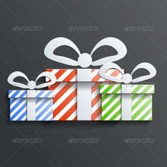 Christmas Gifts by Meilun Christmas Gift icon vector with shadow