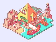 Somewhere along the Nile, in ancient egypt.  _____________________________________________ #alexandria  #beach  #boat  #desert  #dock  #egypt  #harbor  #lighthouse  #nile  #palm  #pyramid  #ship #isometric #miniworld #game #digitalart #3d  #leveldesign #design #illustration #dribbble #dribbblers #simplycooldesign #gdblog #visforvector #pirategraphic #graphicroozane #graphicdesigns #linedesign #lineart @logoinspirations @logothorns @graphicdesignblg @gfx.mob @pirategraphic @graphicroozane…