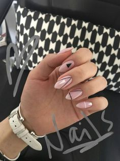 What manicure for what kind of nails? - My Nails Nude Nails, Nail Manicure, Pink Nails, Nail Polish, Black Nails, Coffin Nails, Stylish Nails, Trendy Nails, Hair And Nails