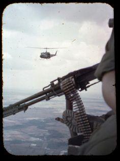 Gunners View. M-60 Door gun UH-1D Huey. #VietnamMemories