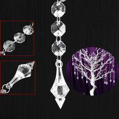 Xmas Christmas Tree Ornaments Acrylic Pendant Light Party Wedding Hanging Decor