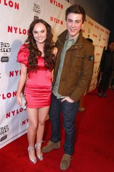 Madeline Carroll and Sterling Beaumon at the Nylon Magazine's 13th Anniversary Celebration in April 2012...