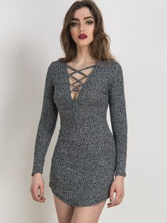 New at Lazaara the Gray Plunge Lattice Lace Up Long Sleeve Bodycon Mini Dress for only  16,00 €  you safe  53%.  Available Options:  SIZE: S,M,L,XL  COLOR: Gray https://www.lazaara.com/en/fashion/2972-gray-plunge-lattice-lace-up-long-sleeve-bodycon-mini-dress.html  #Lazaara #Amazing #Shopping #AmazingShopping #LazaaraAmazingShopping