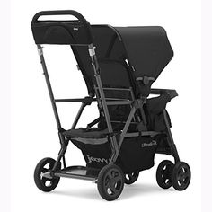 Amazon.com : JOOVY Caboose Too Ultralight Graphite Stand-On Tandem Stroller, Black : Baby