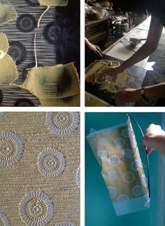 Textiles – Page 5 – marinasjland Textile Pattern Design, Textile Patterns, Fabric Design, How To Dye Fabric, Fabric Art, Fabric Crafts, Stencil Printing, Printing On Fabric, Textiles