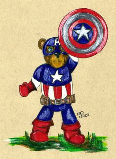 Inspired by Tristan the Teddy Bear & The Teddy Bear Tales. My Memorial Weekend 2013 Art Tribute - Captain Ameri-Bear. You all be safe this Holiday Weekend and please take a moment though to remember those who have protected the freedoms you enjoy.