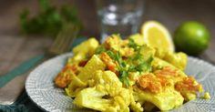 Chou-fleur en vinaigrette au curry