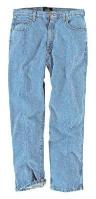 RedHead Loose Fit 5-Pocket Denim Jeans for Men - Medium Stone - 35x34