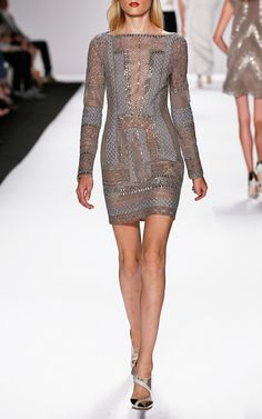 J.Mendel  Trunkshow S/S 2014 Long Sleeve Mini Dress $16000