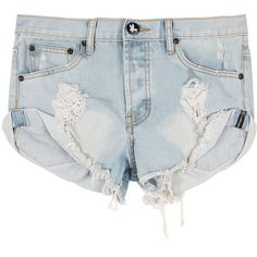 One teaspoon Beauty Bandits Shorts ($124) ❤ liked on Polyvore featuring shorts, bottoms, pants, short, torn shorts, loose cotton shorts, one teaspoon, loose shorts and loose fit shorts