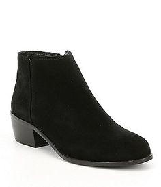 edc0b74a54761 Antonio Melani Suede Paxt Stacked Block Heel Booties Dillard Boots