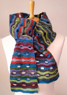 The blinking Eye Scarf inspired by the bridge in Newcastle UK.