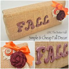 Fall decor under $1! so cute and simple! #crafts #DIY #TheBetterHalf