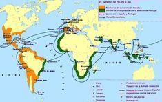 Mapa - El Imperio de Felipe II