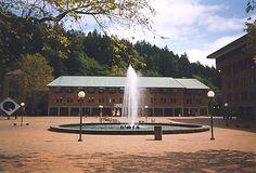 "Bellingham, WA WWU | Western Washington University – US – ""Fountain in Red Square"" Western Washington University, University Housing, Westerns, Fountain, Poster Prints, Mansions, House Styles, Places, Outdoor Decor"