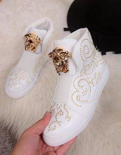 Versace High Top Shoes For Men 96 00 Wholesale Replica Versace High Tops Shoes Top Shoes For Men, Men In Heels, Formal Shoes For Men, Shoes Men, Men Formal, Ladies Shoes, Girls Shoes, Versace Shoes, Versace Men