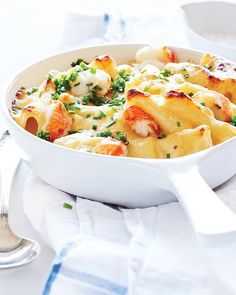 Lobster Mac with Cheddar & Gruyère - This recipe comes from a friend in Maine who makes the best lobster mac ever. It's really indulgent and fab.