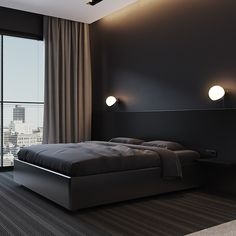 Black Bedroom Design, Small House Interior Design, Master Bedroom Interior, Modern Bedroom Decor, Bedroom Furniture Design, Apartment Interior Design, Home Room Design, Living Room Decor Fireplace, Luxurious Bedrooms