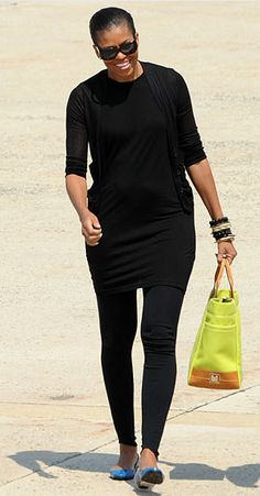 Michelle Obama does sporty chic.