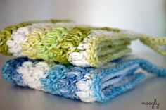 As you can see this cleaning cloth pattern is a great beginner crochet pattern – and a fun intro to the puff stitch! I think they're prettie...