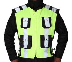 Yoko Mens Vestment Structure Mesh Safety Vest
