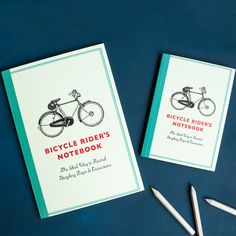 "Carnet De Poche A6 ""Bicycle"" 