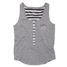 134752142f116 Realtree Women s USA Striped Heather Gray Tank. Realtree Clothing ...