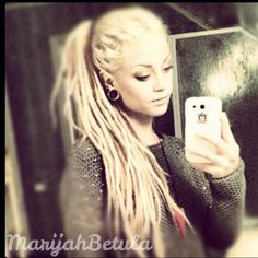 I follow her on youtube, her dreads are beautiful!