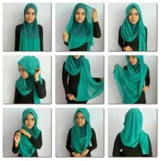 Latest Hijab Styles & Designs Tutorial with Pictures Collection 2016-2017 consists of hijab styling guides and methods, also have trendy & stylish hijabs with caps & scarves for modern women and girls !