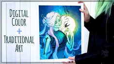 How to Color Traditional Art Digitally • LUNAR DECAY • B&W to Color Art